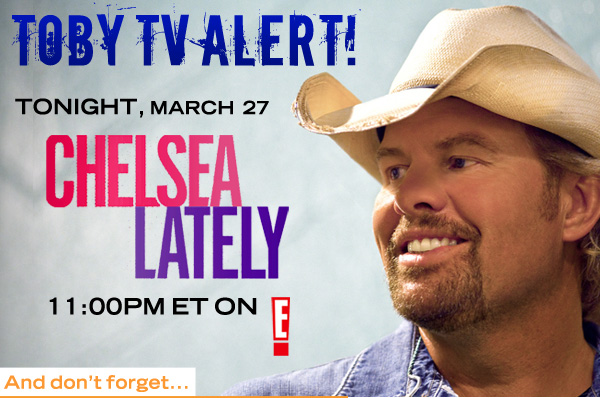 Catch Toby on Chelsea Lately Tonight!